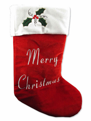 STOCKING - LARGE RED WHITE TRIM - 67CM