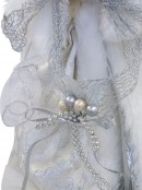 Angel With White Dress & Ceramic Face Tree Top Decoration - 30cm