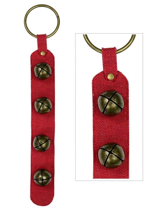 Sleigh Bells Burlap Hanging Strip - 44cm