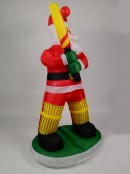 Marvellous Batsman Santa Illuminated Christmas Inflatable Display - 1.8m