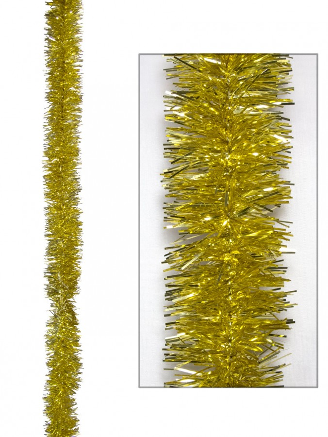 Gold Metallic 6ply Tinsel Garland - 50mm x 5m
