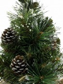 Morning Frost With Pine Cones Table Top Christmas Tree With 37 Tips - 30cm