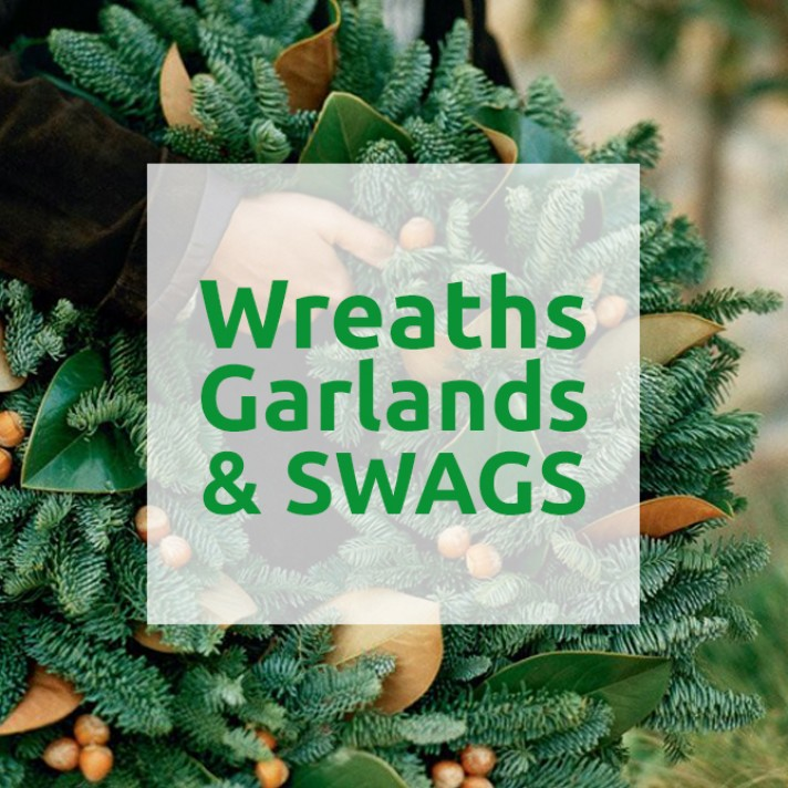 Christmas Wreaths, Garlands & Swags