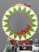 Winter Christmas Carnival Scene with Multiple Animation & Lights - 29cm