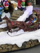 Christmas Village Scene With Santa's Workshop & Moving Children - 33cm