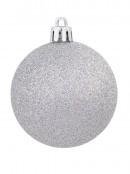 Silver Matte, Glitter & Shiny Baubles - 12 x 60mm