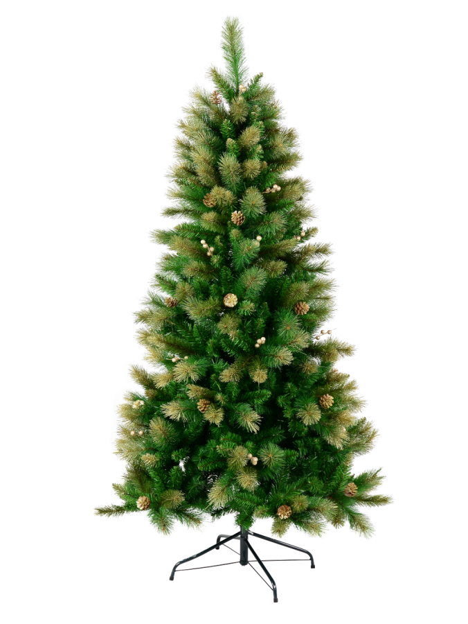 Golden Dawn Christmas Tree With 1251 Tips - 2.3m