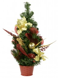 assorted red gold decoration table top tree 52cm