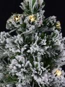 Snow Flocked Warm White LED & Multi Colour Fibre Optic Christmas Tree - 1.8m