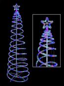 Multi Colour 3D LED Rope Light Spiral Tree - 1.8m