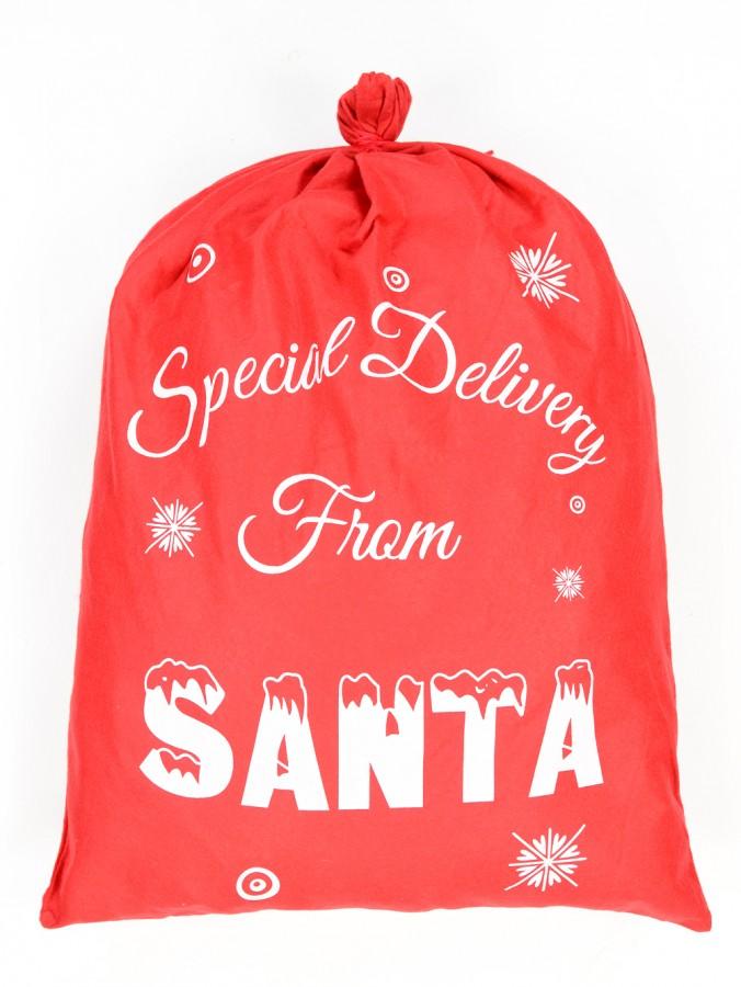 Special Delivery From Santa Red Felt Santa Sack - 90cm