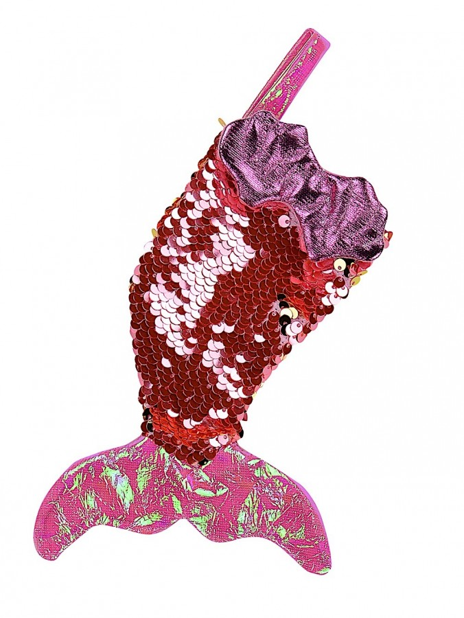 Mermaid Tail Mini Stockings With Pink Sequins - 3 x 20cm