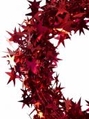 Shiny Red Hexagram Star Wired Christmas Garland - 7.6m