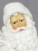 White Santa with Child Standing Ornament - 23cm