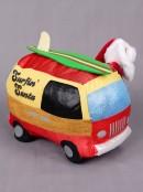 Animated Surf Loving Santa & Van With Longboard  - 24cm