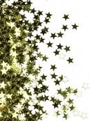 Shiny Gold Star Shape Decorative Christmas Confetti - 40g