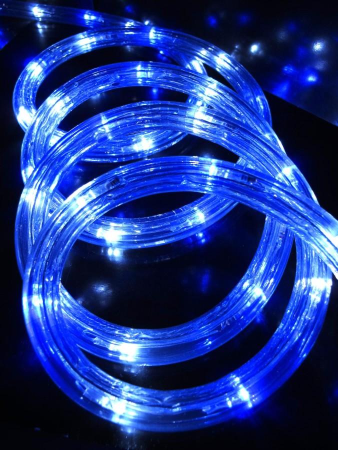 Blue & Cool White LED Christmas Rope Light - 30m