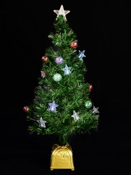 57af9b573449 Led Star   Bauble Fibre Optic Tree - 90cm. The Christmas Warehouse