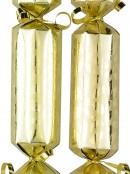 Shiny Gold With Matte Mistletoe Christmas Cracker Bon Bons - 12 x 30cm