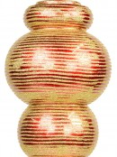 Apple Red Flattened Bauble Shape Large Finial Display Decoration - 55cm