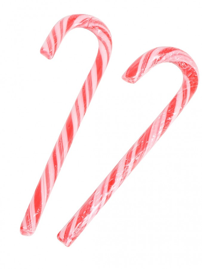 Traditional Candy Cane Lollies - 12 pack