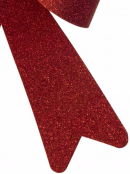 Red PVC Christmas Bow Decoration - 24cm
