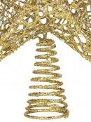 Gold Glitter Tree Topper - 30cm