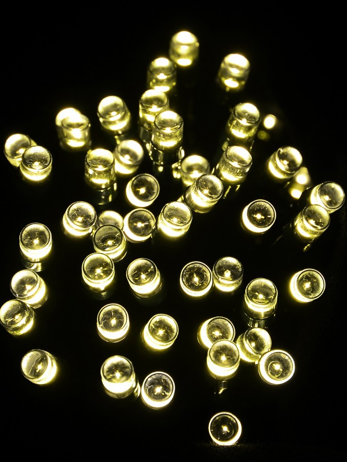 1000 Warm White Multi Function LED Lights with Bluetooth Control - 54m