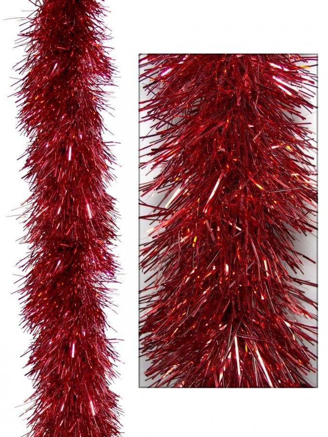 Red Metallic 8ply Tinsel Garland - 15cm x 5m
