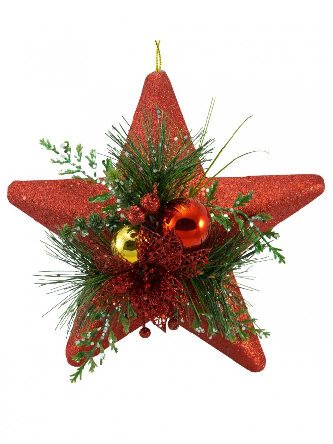 Red Star Hanging Decoration - 27cm