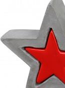 Nested Christmas Star Concrete Look & Ceramic Christmas Ornament - 13cm