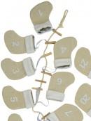 Jute Mini Stocking Advent Calendar Clothesline String - 1.7m