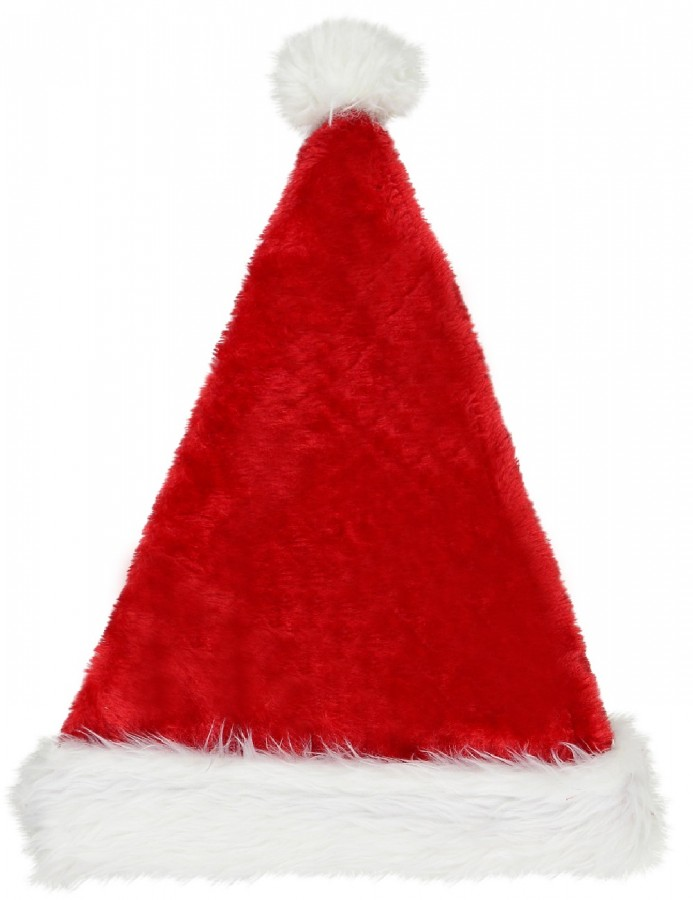 Plush Red Traditional Christmas Santa Hat - 40cm