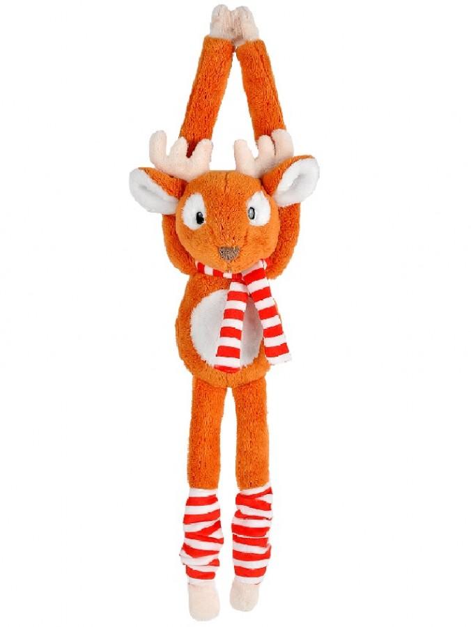 Cute & Cuddly Hanging Reindeer Christmas Plush Toy - 19cm