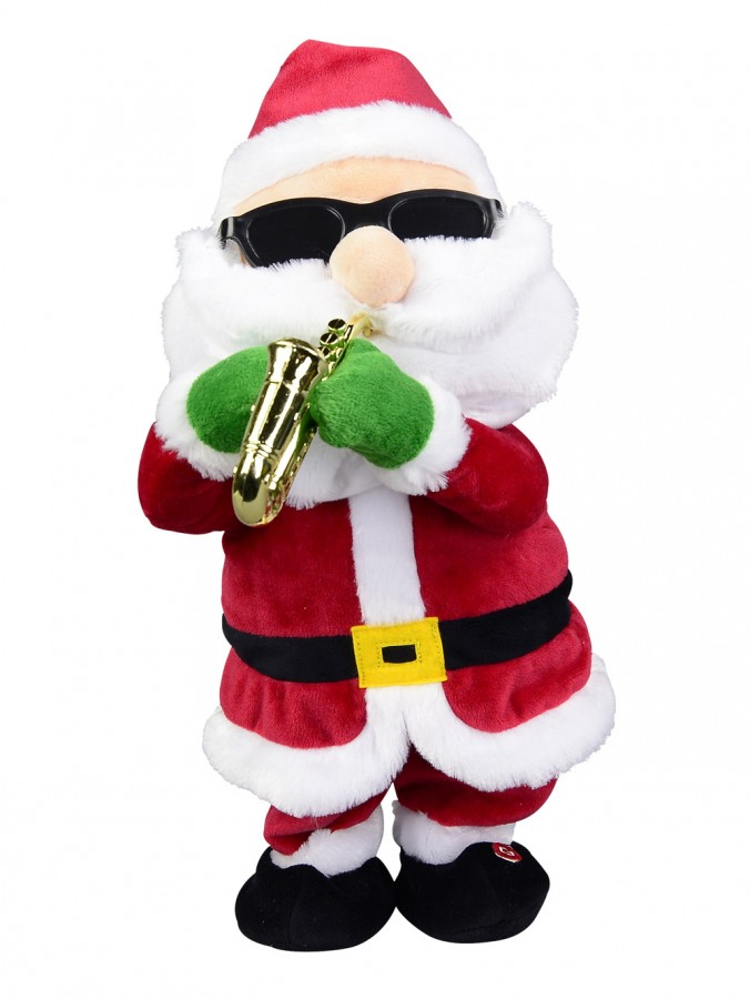 Saxing It Up Santa Musical Animation - 37cm
