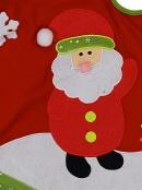 Santa, Tree & Gift With Snowflakes & Green Trim Christmas Tree Skirt - 88cm
