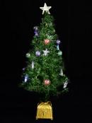 LED Star & Bauble Fibre Optic Tree - 1.5m