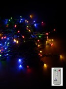 100 Dimmable Multi Colour LED String Light With Remote - 10m