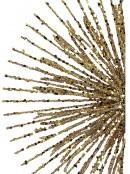 Glittered Gold Starburst Christmas Tree Topper Ornament - 38cm