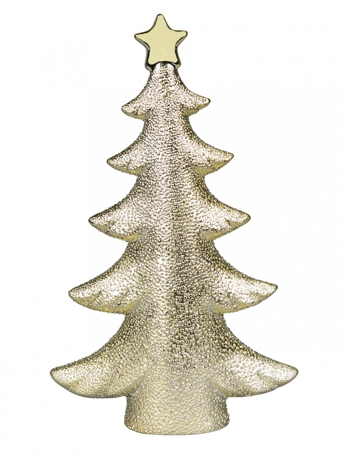 Ceramic Champagne Christmas Tree Ornament - 26cm