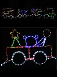 Christmas light displays christmas lights the christmas warehouse christmas 2d rope light silhouette train with 3 carriages 28m aloadofball Images