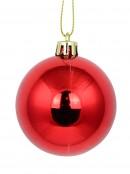 Red Glittered, Matte & Metallic Baubles - 12 x 60mm