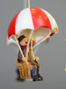 Carnival Themed Parachute Ride Scene With Led Lights - 25cm