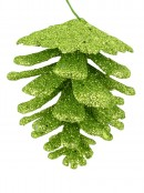 Red & Green Glitter Pine Cone Hanging Decoration - 12 x 60mm