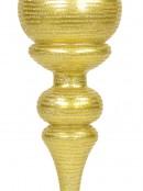 Metallic Gold Flattened Bauble Shape Large Finial Display Decoration - 55cm
