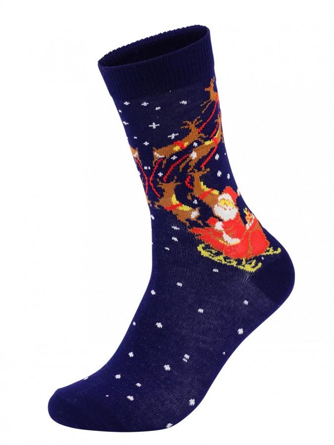 Santa & Reindeers Christmas Socks - Pair