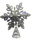 Snowflake Laser Light Effect Illuminated Tree Topper Ornament - 35cm