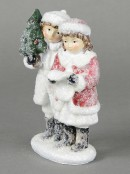 Traditional Boy & Girl Table Top Ornament - 14cm