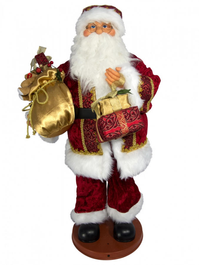 Animated Christmas Toys : Singing hip swinging santa with presents musical