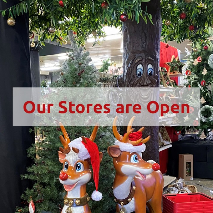 All Stores Open as of Mon 11th Oct